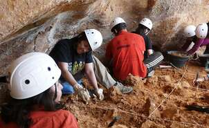 Courtesy of Fundación Atapuerca. Railway Trench. Gallery site. Atapuerca Foundation.