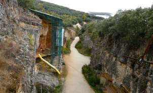 Courtesy of Fundación Atapuerca. General view of the Railway Trench. Atapuerca Foundation