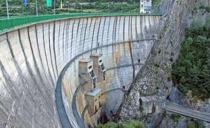 Dam of Lanuza reservoir