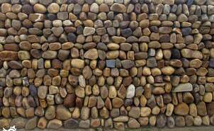 Craft wall of boulders