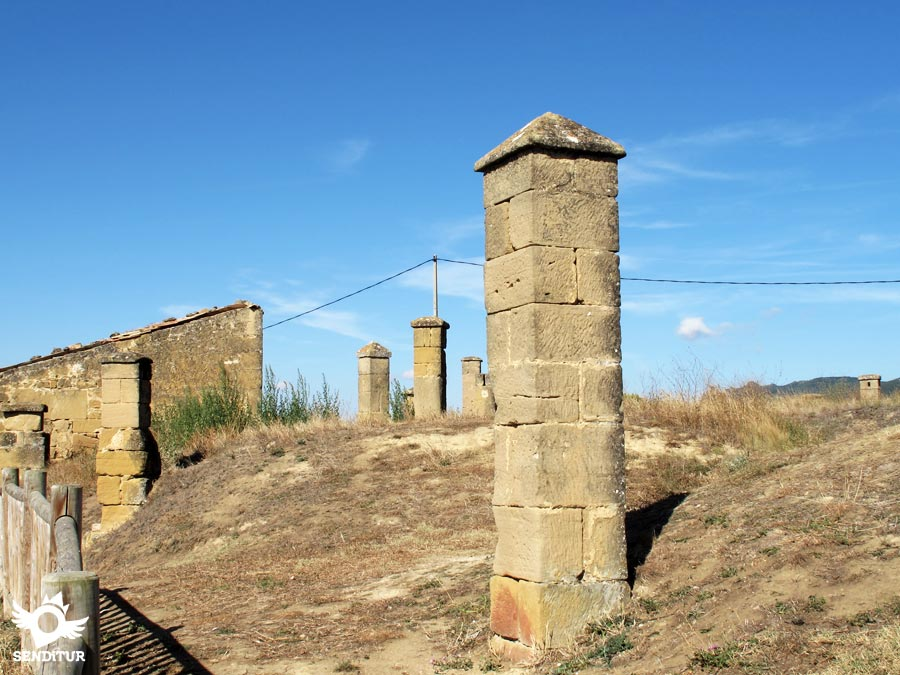 Chimneys of the Mirador del Ebro in Briñas