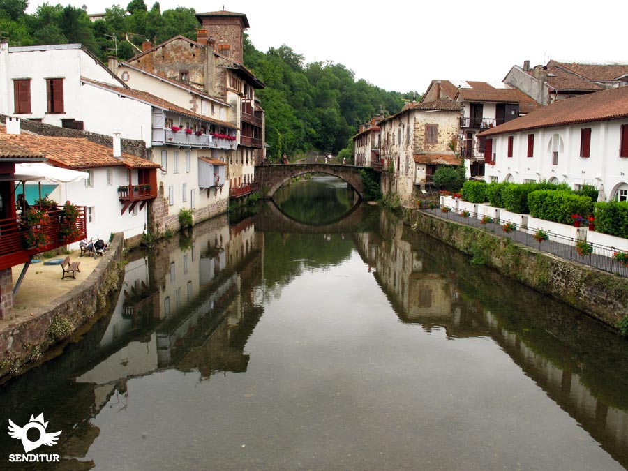 River Nive or Errobia in Saint Jean Pied de Port