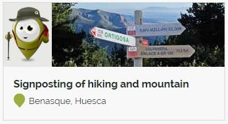 Go to Signposting of hiking and mountain routes