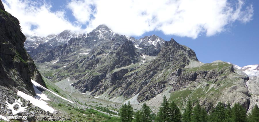 View of the Ecrins massif