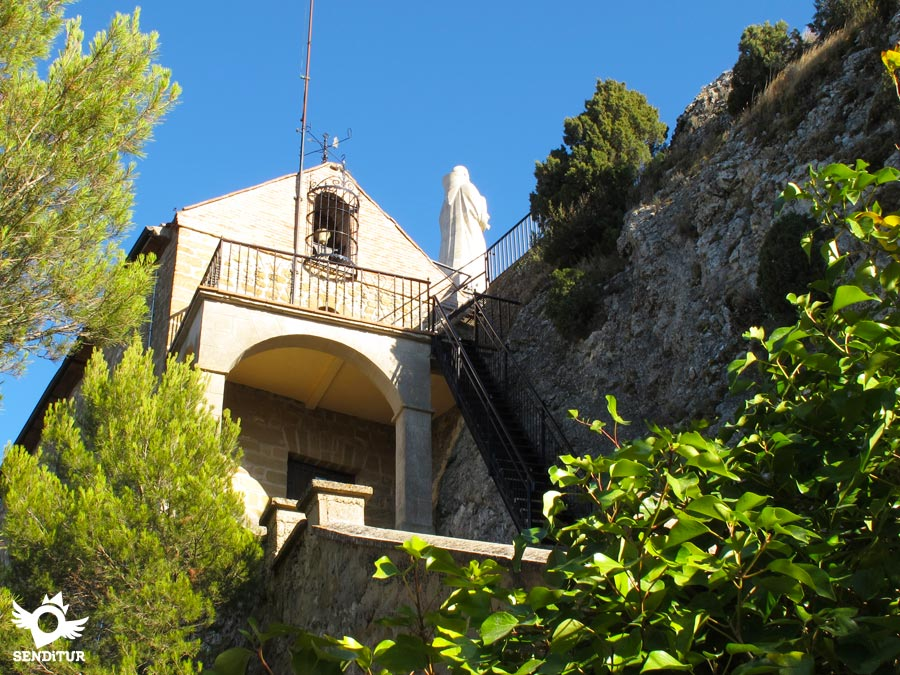 The hermitage of San Felices de Bilibio is in a privileged spot.