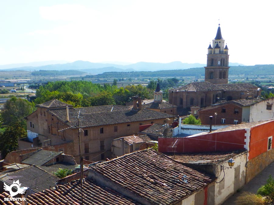 Panoramic view of the cathedral of Santa María in Calahorra