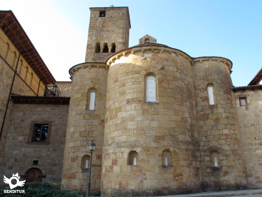 Absides and tower of the church in the Monastery of San Salvador de Leyre