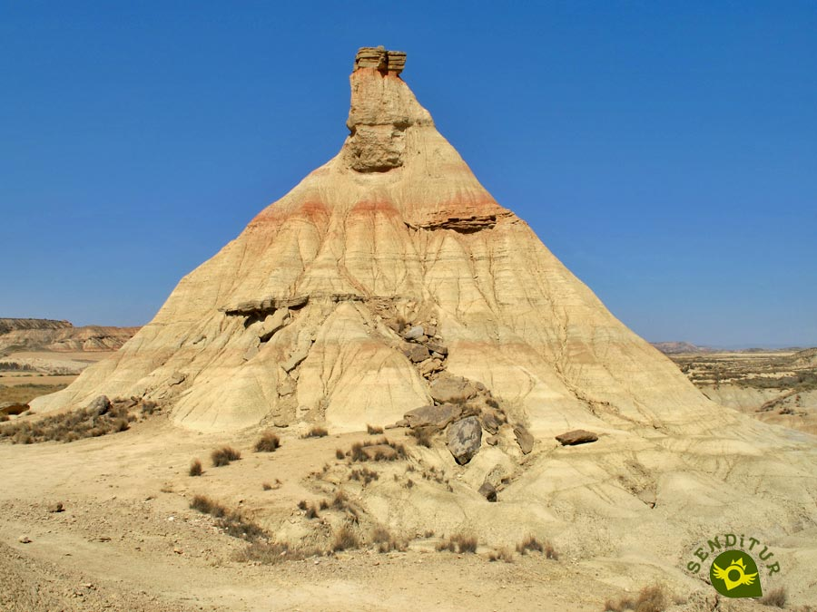 Cabezo of Castildetierra in the Bardenas Reales