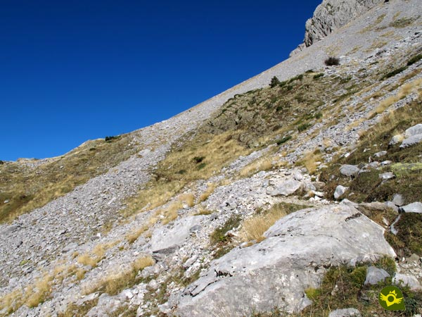 It's still a long way to the Pyrenean lake