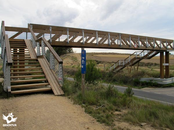 Bridge with a small bicycle ramp.