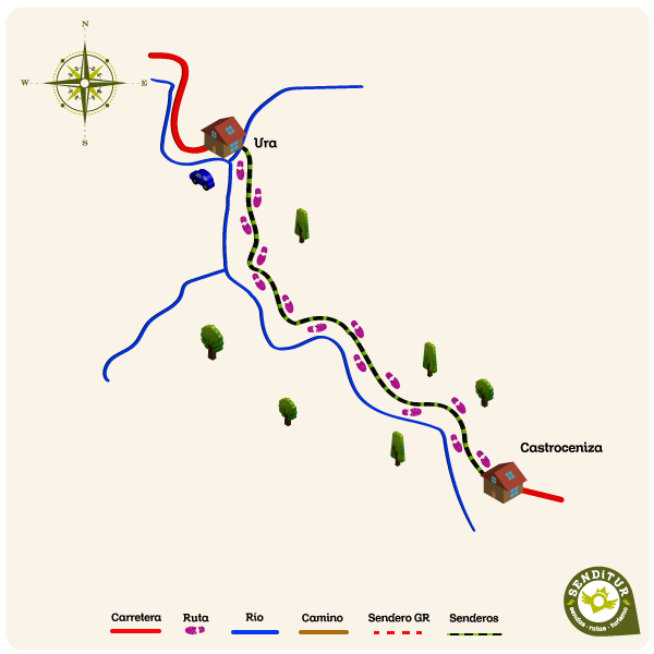 Map of the Gorge of Mataviejas route
