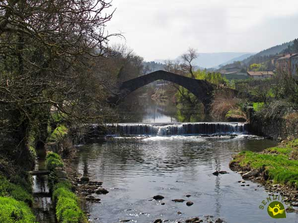 Otazu Bridge in the Linear Park of the Nervión