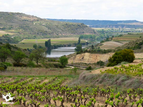 The river Ebro surrounds this area of the route