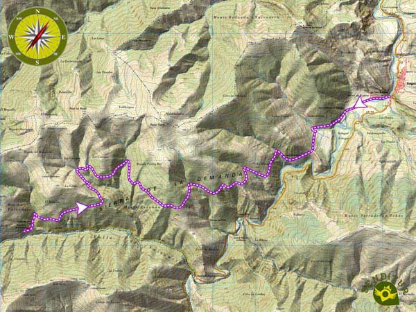 Topographical map of the Link GR 93 GR 190 Anguiano Valvanera