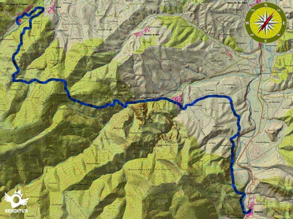 Topographic map with the GR 93 route Section 2 San Millán de la Cogolla-Anguiano