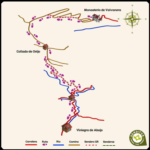 Viniegra De Abajo Mapa.Gr 190 Tramo 2 Valvanera Viniegra De Abajo Anguiano La Rioja Senditur Sendas Rutas Y Turismo