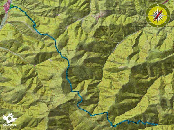 Topographic map GR 190 Section 1 Ezcaray-Valvanera