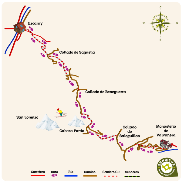 Map of GR 190 Section 1 Ezcaray-Valvanera