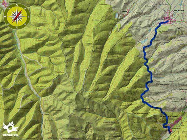 Topographic map with the route Camino de San Millán a Villar de Torre