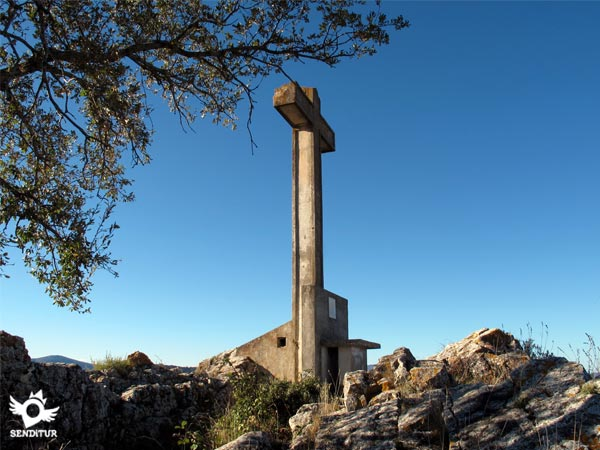Cross at the top of Laturce mountain of 1035m