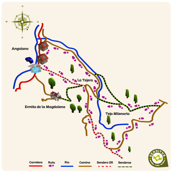 Map of the Route of the Serradero
