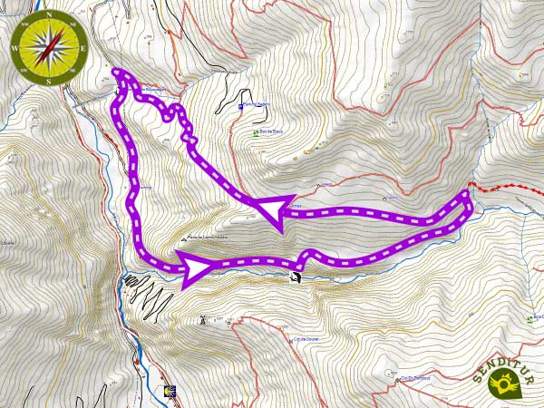 Topographic map of the Way of the Mature